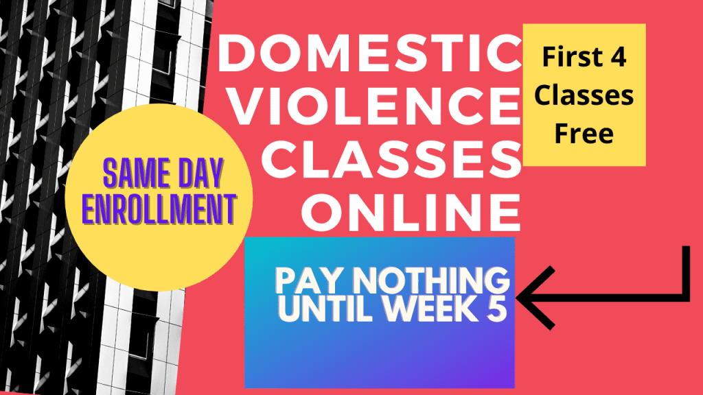 Domestic Violence Classes Online red